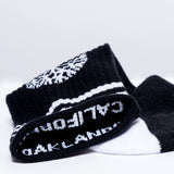 socks - black and white - comfy soft - one size - oaklandish