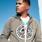 Roots SC Applique Zip Hoodie | Nickel Heather