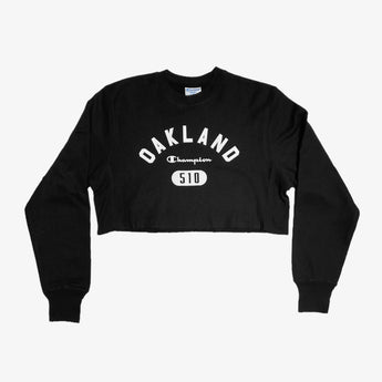 Women's Champion X Oaklandish Crop Crew