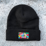 Roots SC Beanie - Woven Black Acrylic & Cuffed