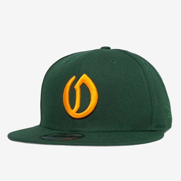 Cap - New Era 9Fifty, Oakland A's O logo, Green & Yellow