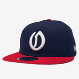 Cap - New Era 9Fifty, Embroidered OAK logo, Navy & Red