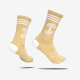 Men's Crew Socks - Classic Oaklandish Roots Logo, Mustard