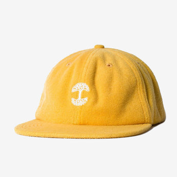 Cap - Unstructured Terry Cotton, Yellow, Adjustable Strapback