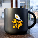 Sunny Side Of Bay Coffee Mug | Black & Yellow Stoneware