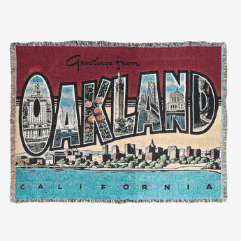 throw blanket - greetings from Oakland