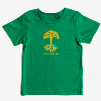 Toddler T-Shirt - Classic Oaklandish Logo, Kelly Green Cotton