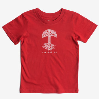 Toddler T-Shirt - Classic Oaklandish Logo, Red Cotton