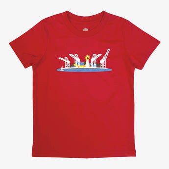 Toddler T-Shirt - Fairyland Happy Dragon, Red Cotton