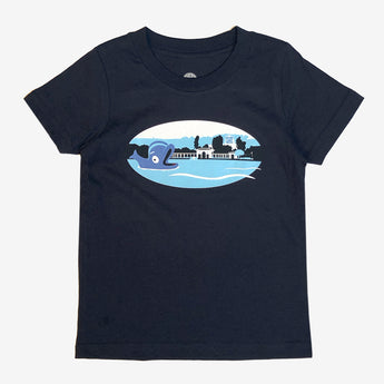 Toddler T-Shirt - Fairyland Willie the Whale, Navy Cotton