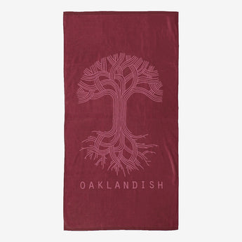 Classic Logo Super Soft Oversized Beach Towel - Burgundy
