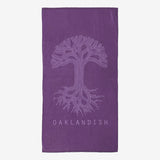 Oversized Beach Towel - Oaklandish Classic Logo, Purple