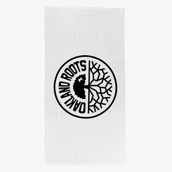 Oversized Beach Towel - Plush, Roots SC Oakland Roots Logo