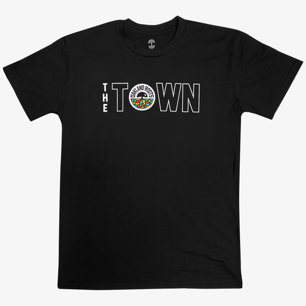 T-Shirt - Roots SC The Town Logo, Black Cotton