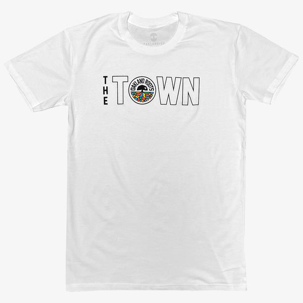 T-Shirt - Roots SC The Town Logo, White Cotton