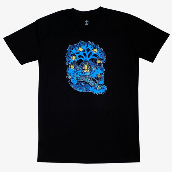 T-Shirt - Oakland Tree House, Black Cotton