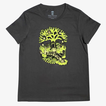 Women's T-Shirt - Oakland Daytime Treehouse, Cotton Charcoal