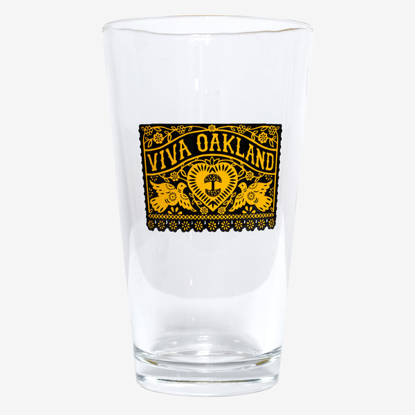 Viva Oakland Pint Glass