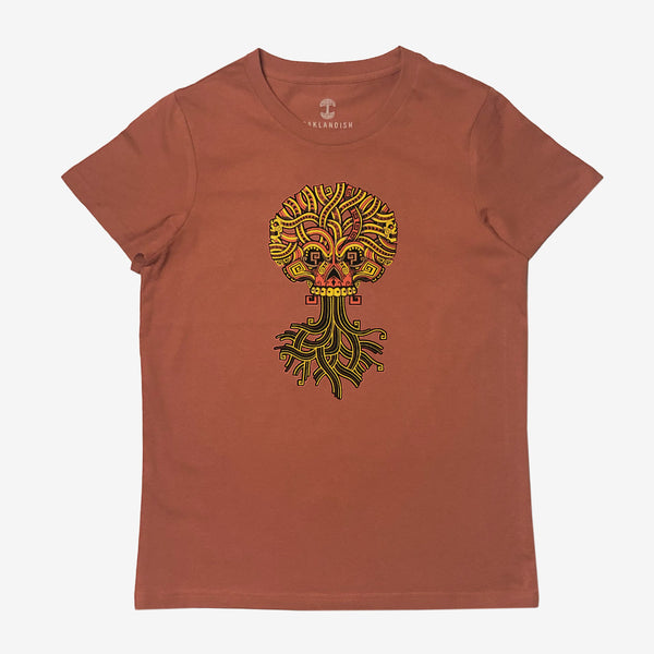 Women's Tee - Jesse Hernandez of Urban Aztec, Copper