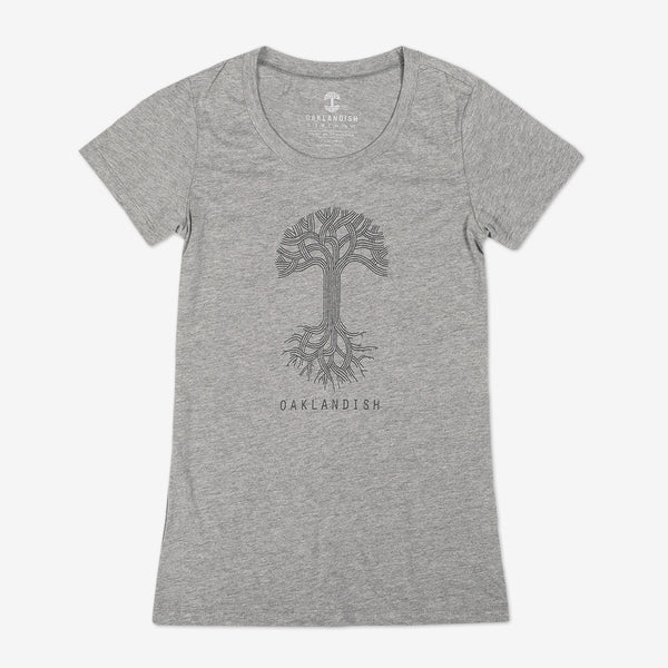 Women's Oaklandish Classic Logo Heather Tee