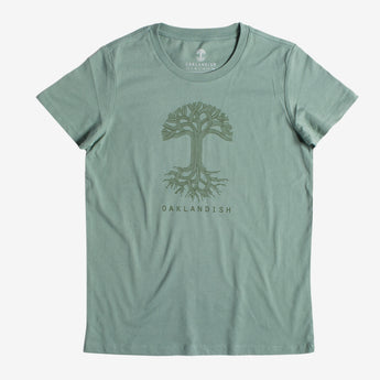 Women's Oaklandish Classic Logo Tee - Combed Sage Cotton