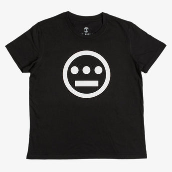t-shirt - hiero hip hop logo - black cotton - women's cut