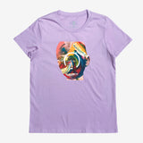 hueman limited edition t-shirt-cotton-lavender women's-oaklandish
