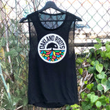 Women's Roots SC Logo Tank - Black Cotton