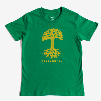 Youth T-Shirt - Oaklandish Classic Logo, Kelly Green Cotton