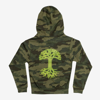 Youth Hoodie - Classic Oaklandish Logo, Camouflage Fleece
