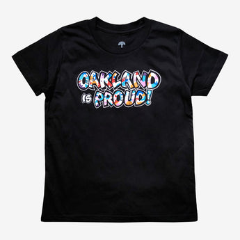 Youth T-Shirt - Oakland is Proud Del Phresh X Oaklandish, Black