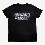 t-shirt-oakland is proud - del phresh x oaklandish - youth - black
