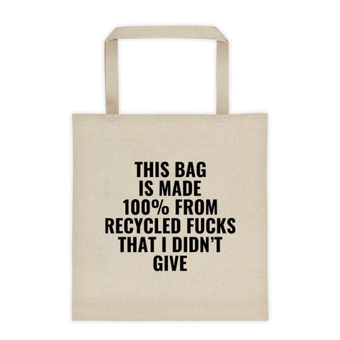 Recycled Fucks tote bag