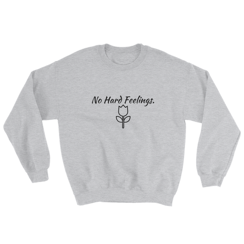 NO HARD FEELINGS sweater with rose