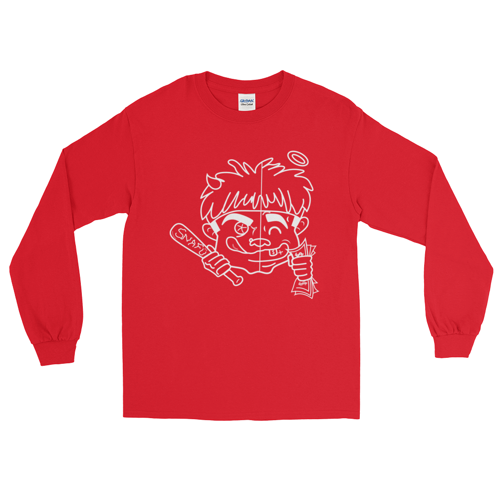 """ 2 Face "" Red Long Sleeve Tee"