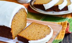 Pumpkin Bread with Cream Cheese Frosting (Serves 8-10)