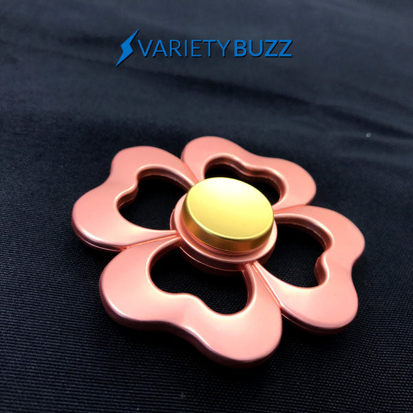 Rose Gold Heart Flower Hand Spinner