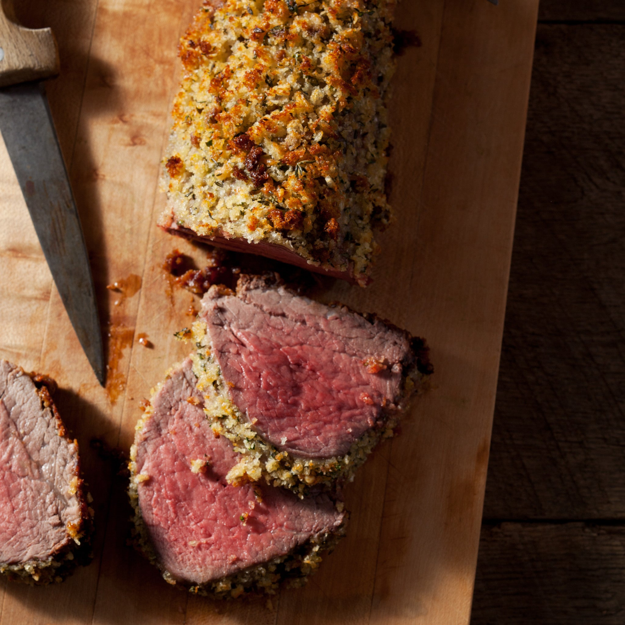 Herb Crusted Beef Tenderloin with Hee-Haw Horseradish Sauce