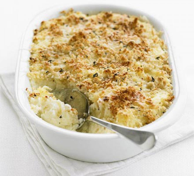 Hee-Haw HorseRadish Smashed Potatoes
