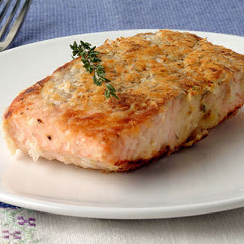 Hee-Haw Encrusted Salmon or Halibut Bake