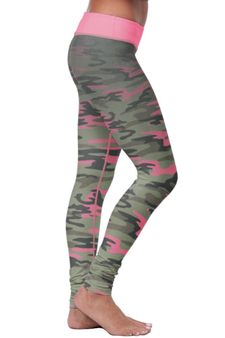 Pink & Green Camo Leggings