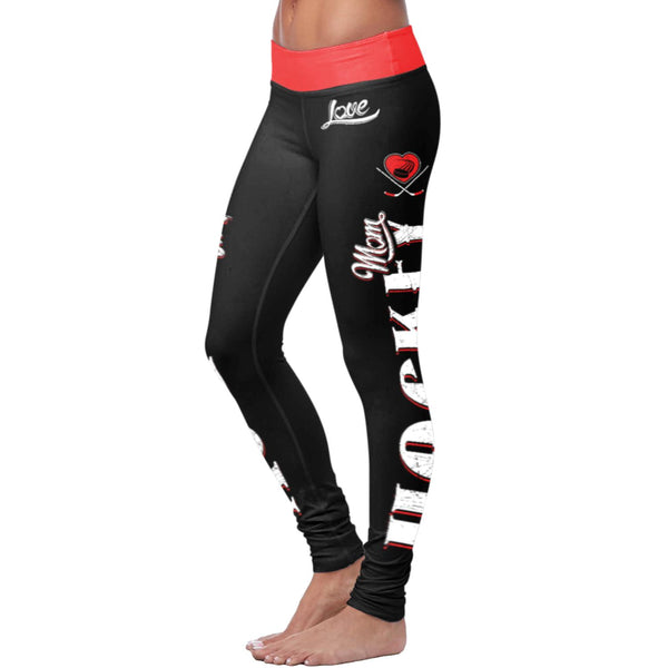 Hockey Mom Black Leggings