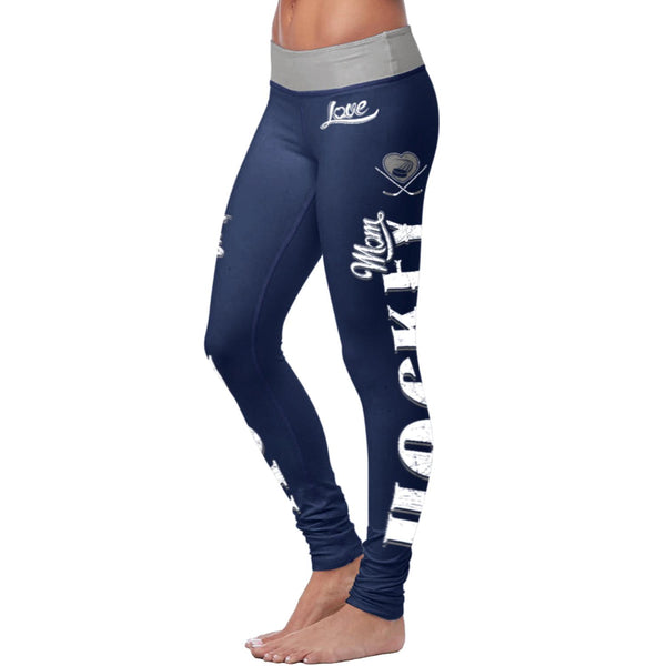 Hockey Mom Blue Leggings
