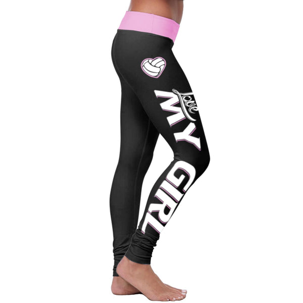 Volleyball Mom Love My Girl Leggings