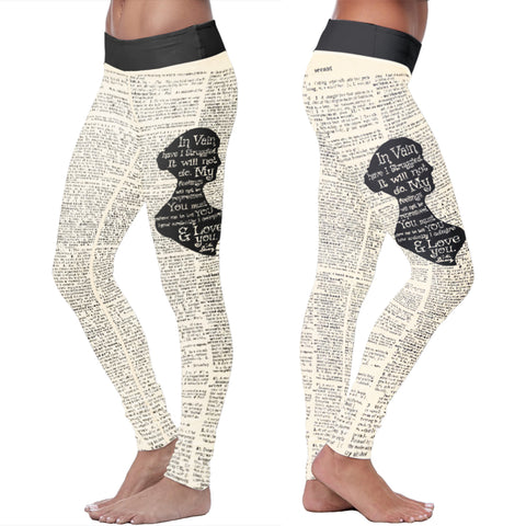 Jane Austen Dictionary Leggings