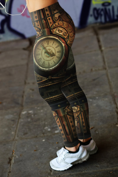 Steampunk Clock Leggings