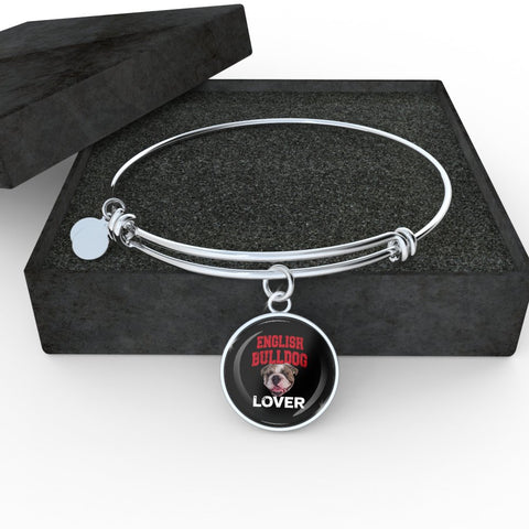 English Bulldog Lover Bangle Bracelet