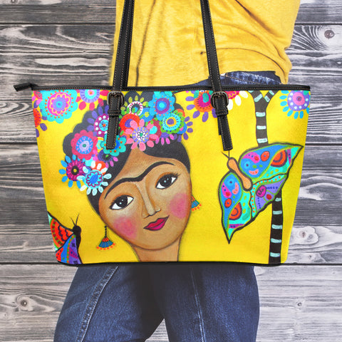 Frida Kahlo Large Eco Leather Tote Bag