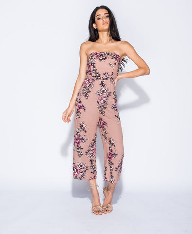 ChainedwithDaisies Floral Print Bandeau Jumpsuit - PRE ORDER Playsuits & Jumpsuits