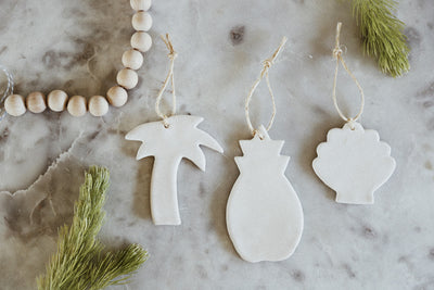 Billabong: DIY Clay Coastal Christmas Ornaments